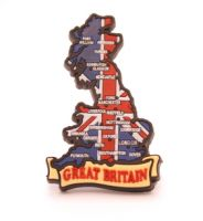 Map of Great Britain fridge magnet