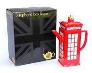 Telephone box novelty teapot