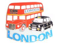 Black cab/bus metal  magnet